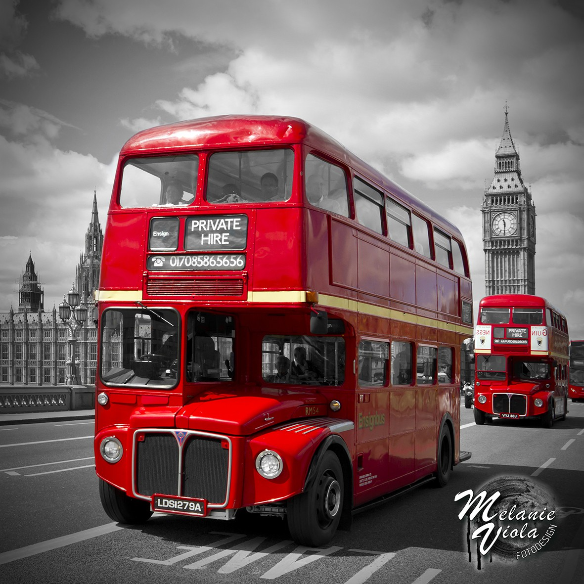 LONDON Rote Busse & Westminster Bridge | OhMyPrints Onlineshop