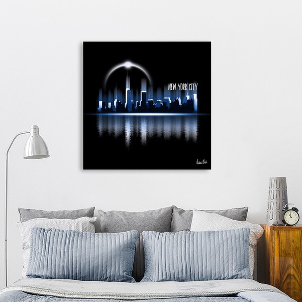 Graphic Art | A Dream of New York City in blue - CURIOOS Onlineshop
