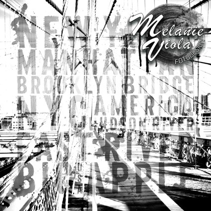 NYC Brooklyn Bridge Typografie II | Link zum OhMyPrints Onlineshop