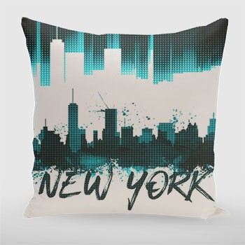 Graphic Art NYC Skyline | türkis  - Link zum artboxONE Onlineshop