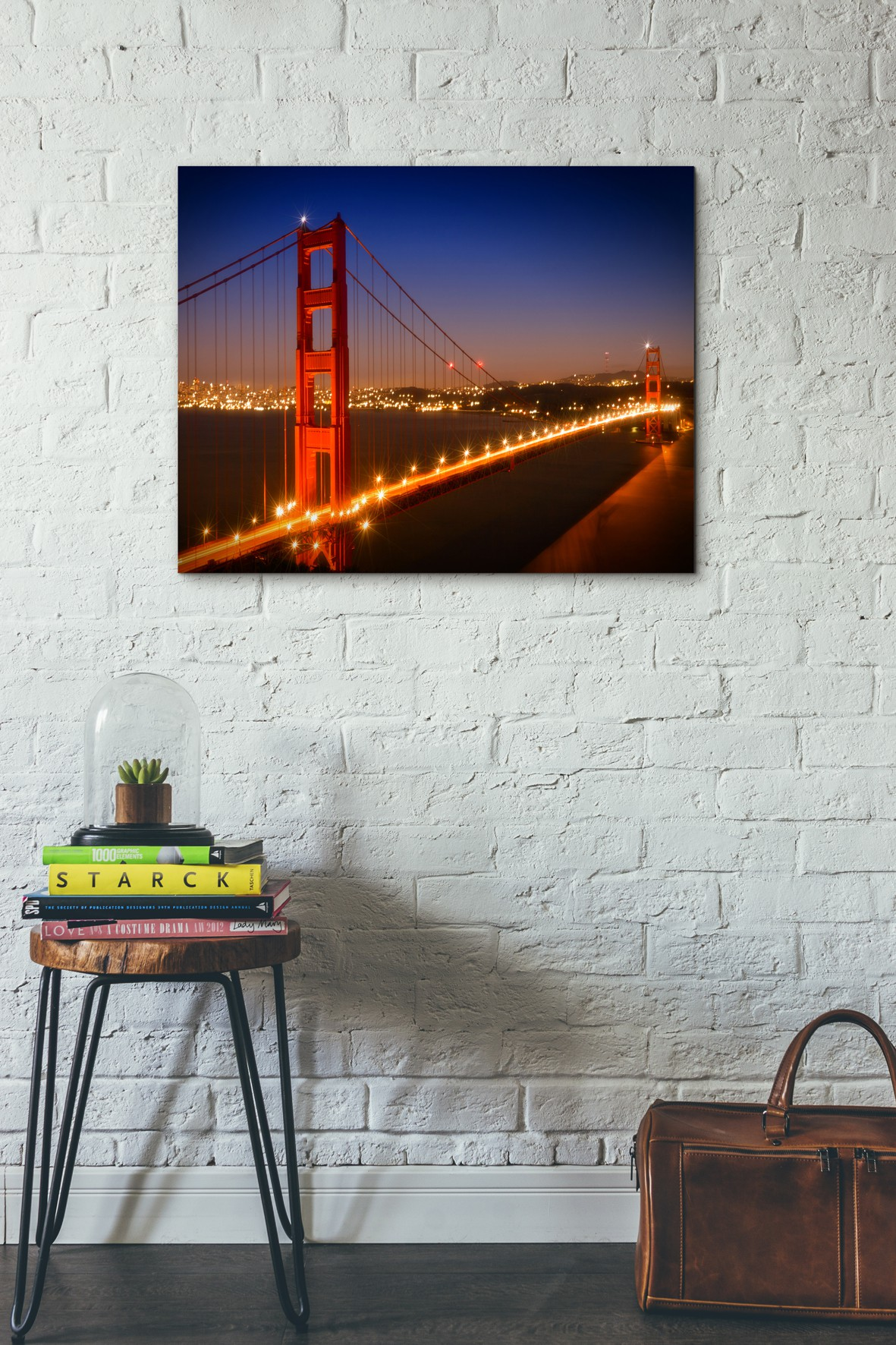 Golden Gate Bridge am Abend - OhMyPrints Onlineshop