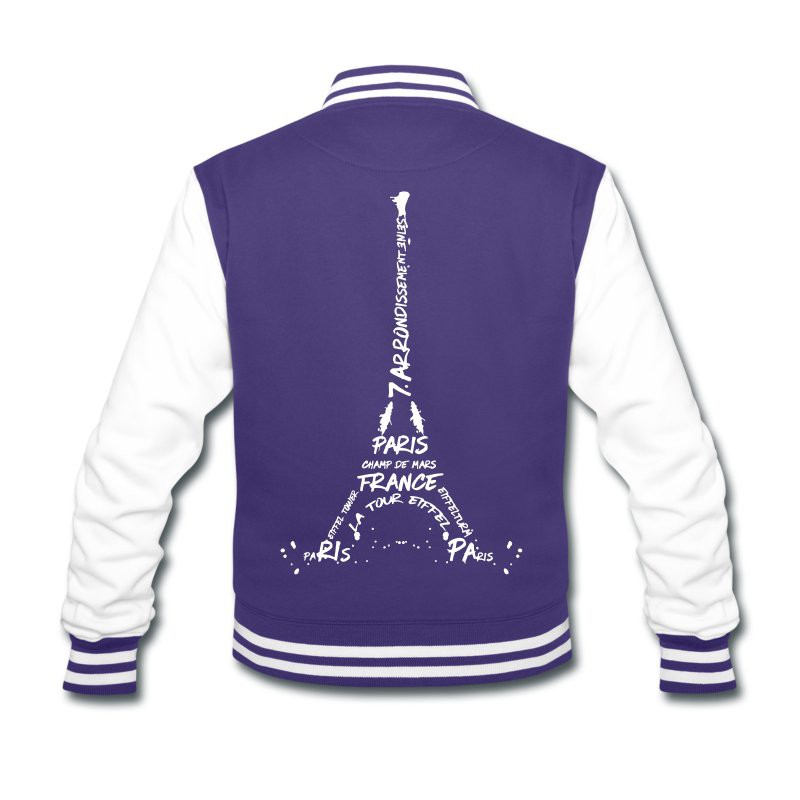 "LINK - SPREADSHIRT Collegejacke ""Digital Art Eiffel Tower"""
