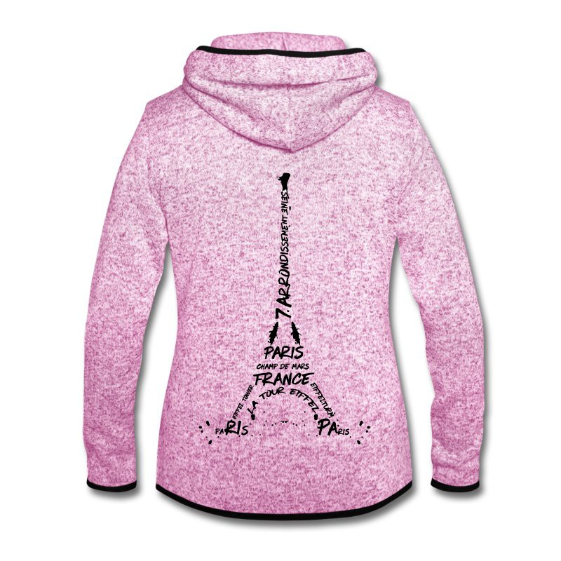"LINK - SPREADSHIRT Fleecejacke ""Digital Art Eiffel Tower"""
