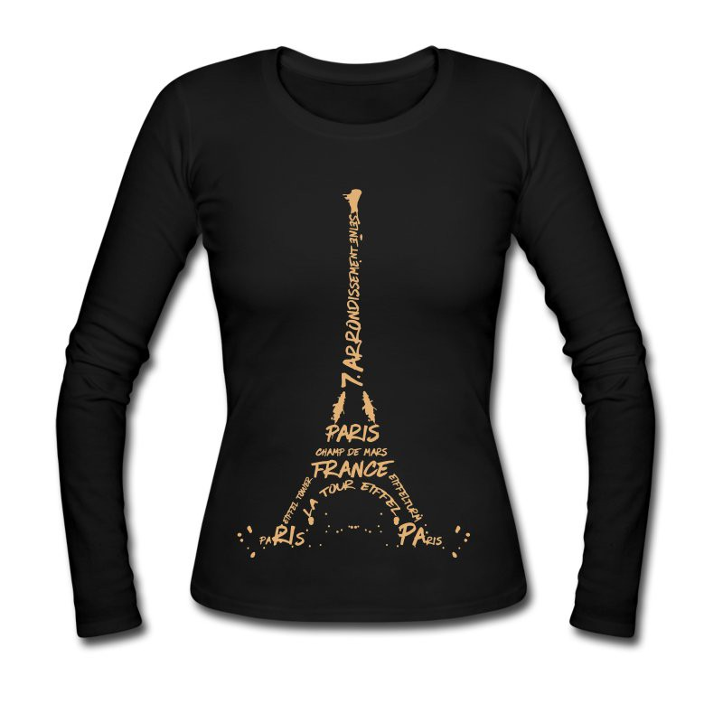 "LINK - SPREADSHIRT Langarmshirt ""Digital Art Eiffel Tower"""
