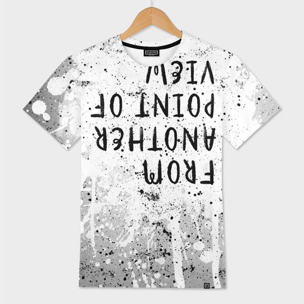 "LINK - CURIOOS Mens All Over T-Shirt ""TEXT ART From another point of view 