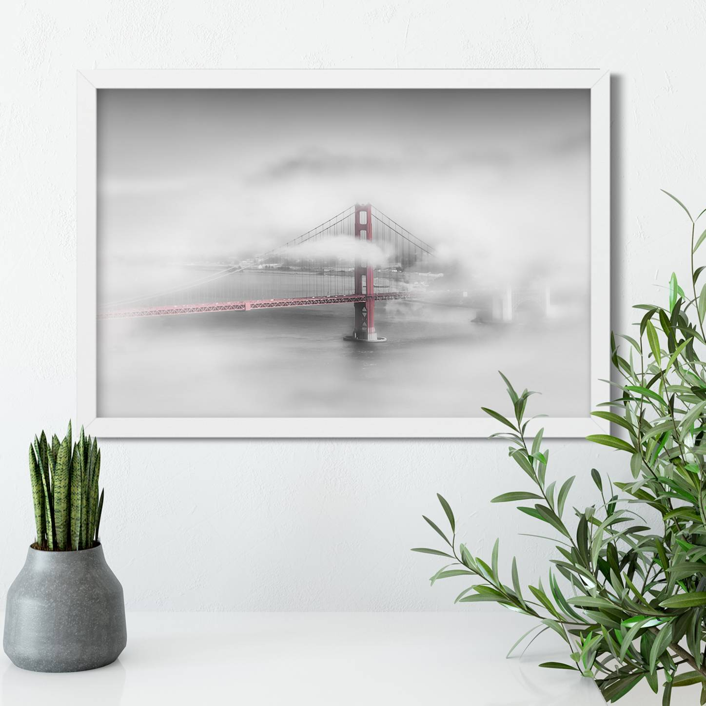 """Foggy Golden Gate Bridge - Colorkey"" LINK Fine Art America"