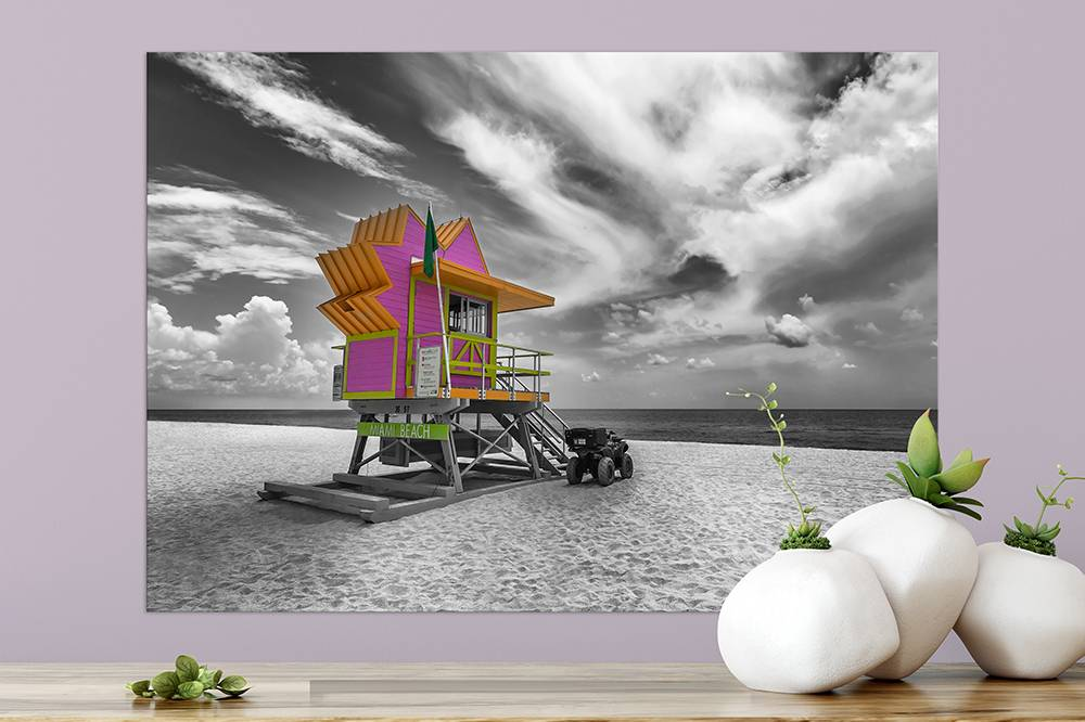"""MIAMI BEACH Florida Flair"" - LINK OhMyPrints"