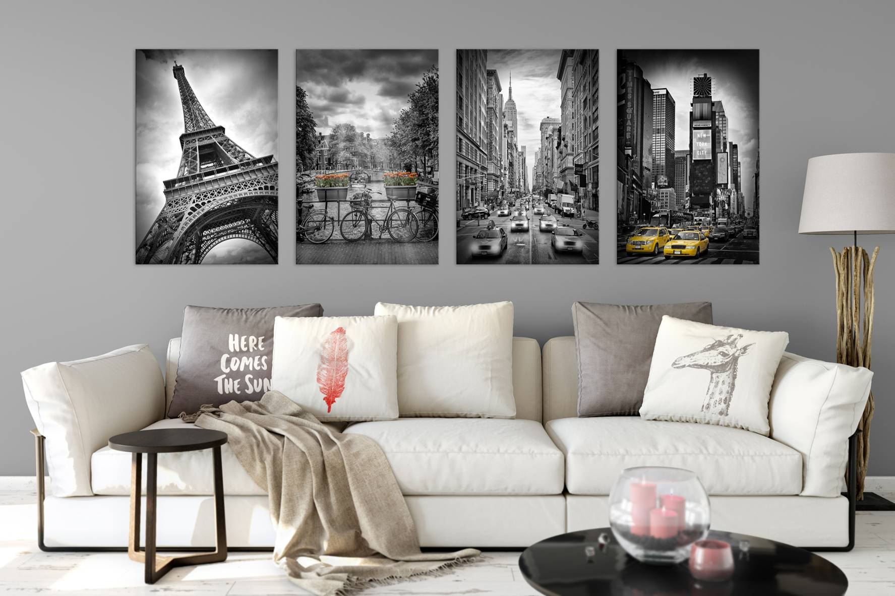 Black&White vs. Colorkey. Lovely wall art mix! Visit my collections at Fine Art America!
