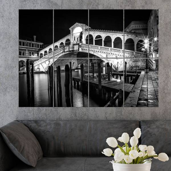 Link to Displate - VENICE - Rialto Bridge at night - 8 metal prints