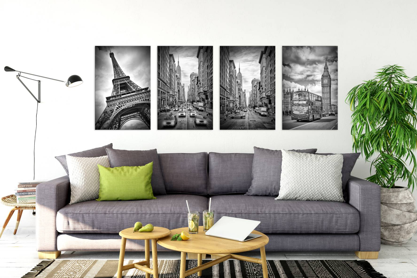 """Urban Monochrome"" Collection - LINK to Displate"