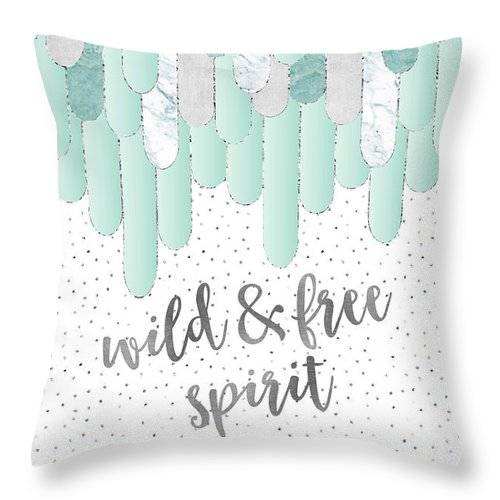 Link to Fine Art America - Throw Pillow - Wild and free spirit
