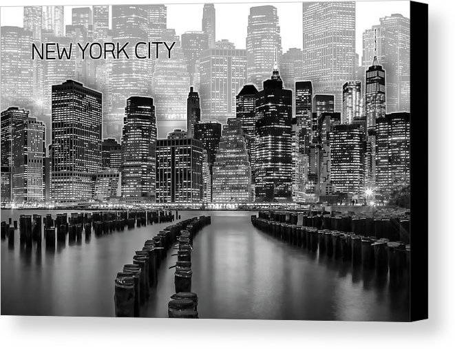 "Link - Fine Art America - ""Manhattan Skyline - Graphic Art - white"""
