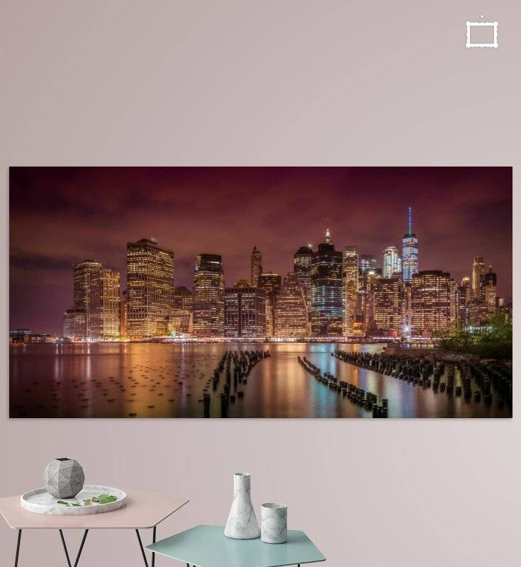 NEW YORK CITY Impression bei Nacht | Panorama - OhMyPrints Onlineshop