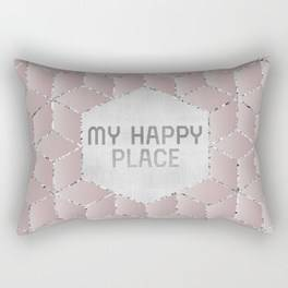 "Link SOCIETY6 Rectangular Pillow ""GRAPHIC ART My happy place"""