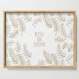 "LINK - SOCIETY6 Serving Tray ""Graphic Art RISE & SHINE 