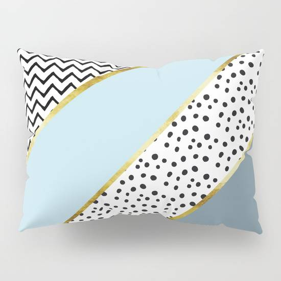 "Link SOCIETY6 Rectangular Pillow ""Happy Abstract 