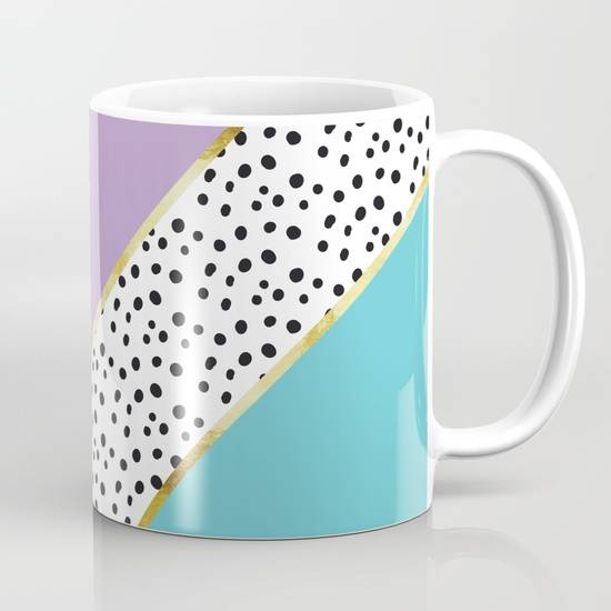 "Link SOCIETY6 Tasse / Mug ""Happy Abstract 