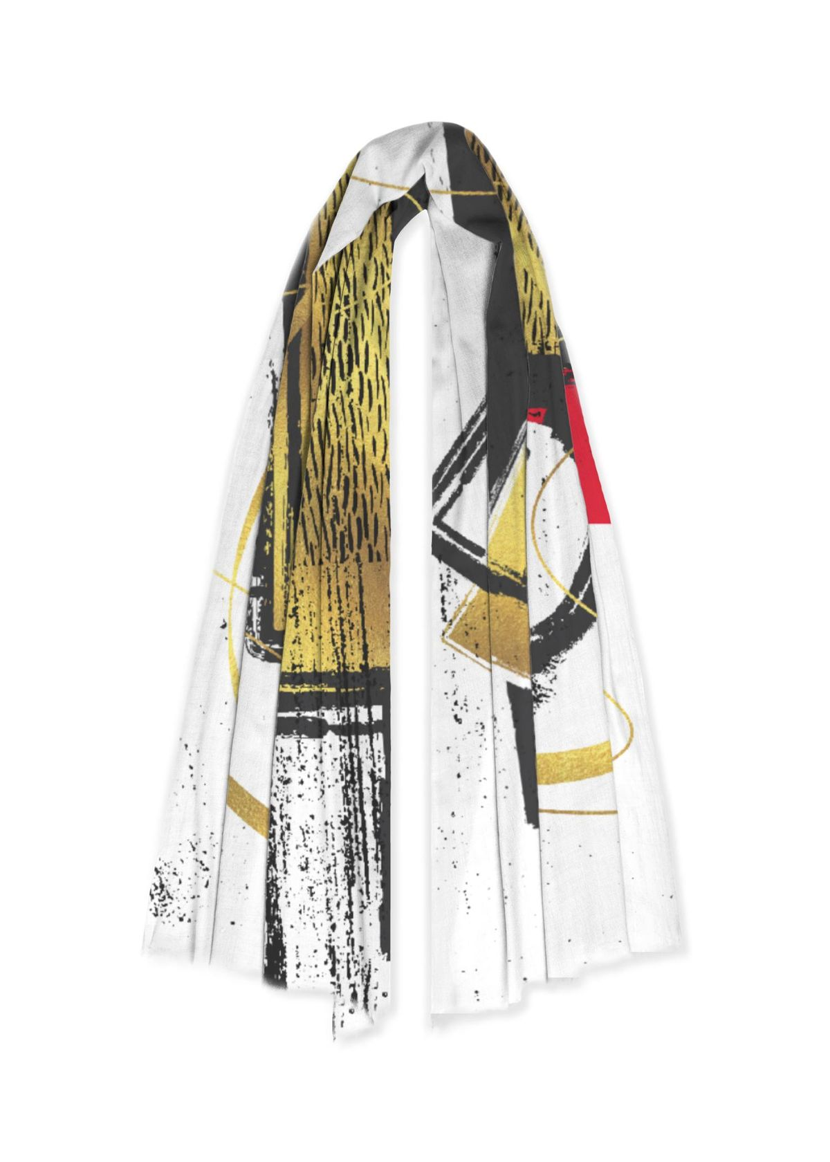 Abstract Fashion Design - 100% Cashmere Scarf - LINK VIDA