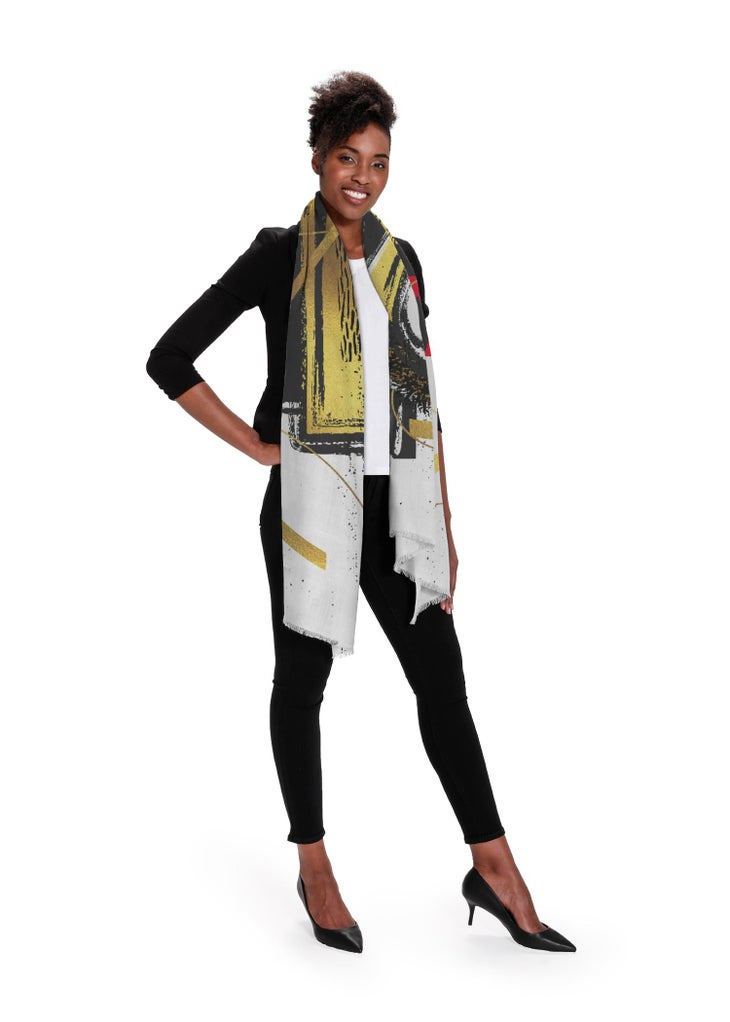 Click to enlarge - Abstract Fashion Design - 100% Cashmere Scarf