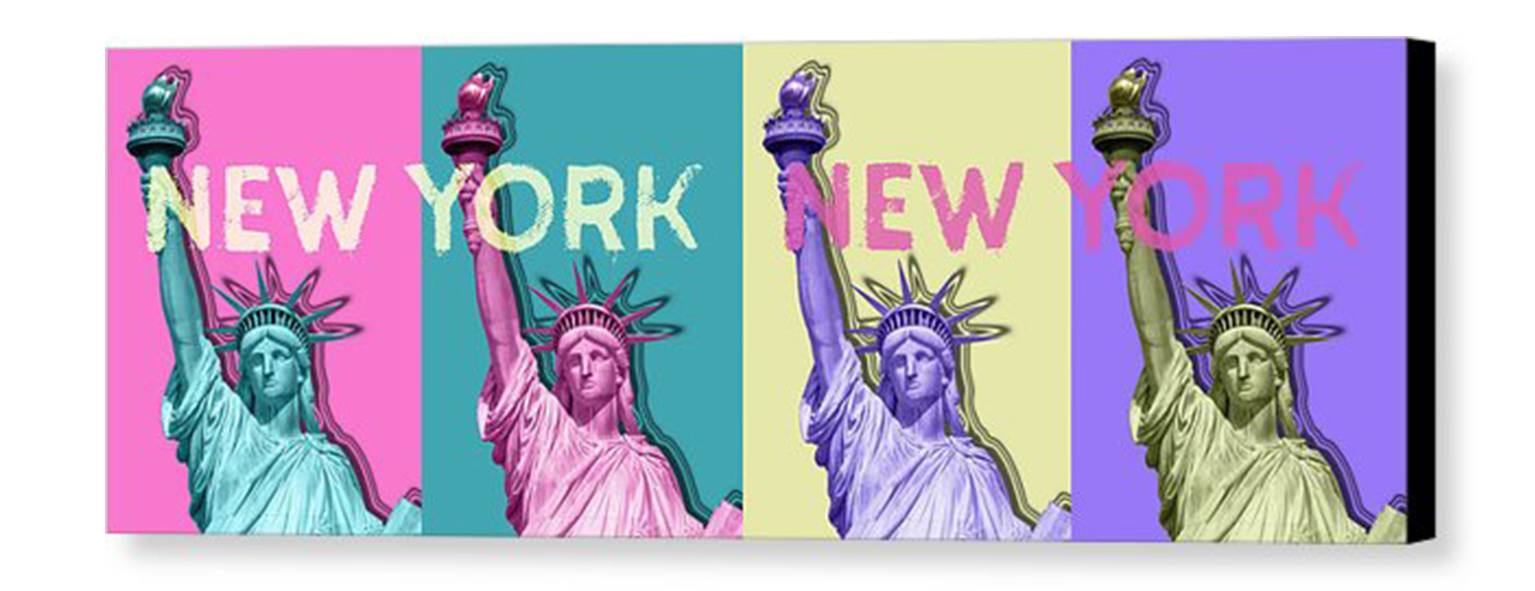 POP ART Statue Of Liberty | New York New York | Panoramic