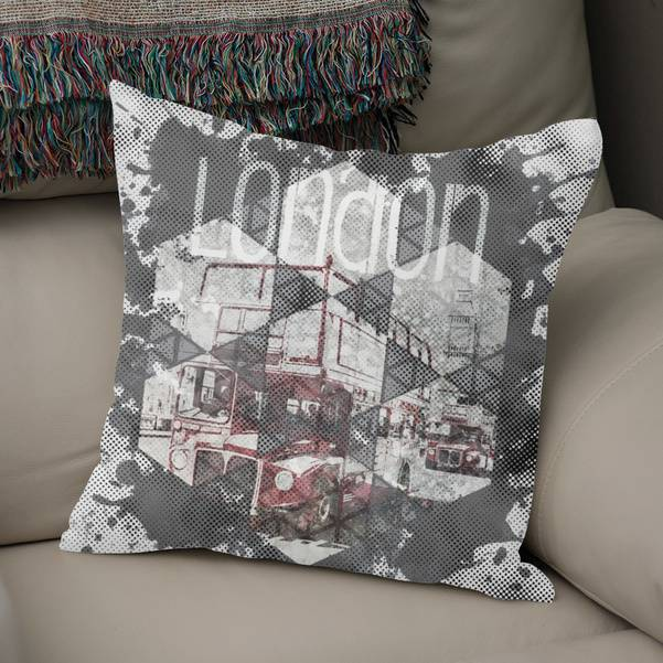 "Link CURIOOS Throw Pillow ""Graphic Art LONDON Streetscene"""