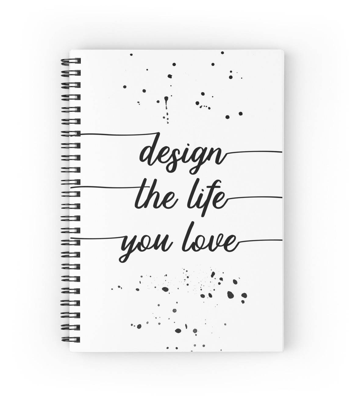 "LINK - Redbubble - Spiralblock - ""TEXT ART Design the life you love"""