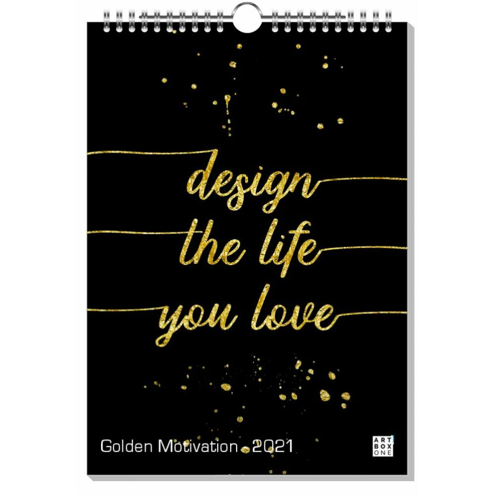Golden Motivation 2021 Wandkalender - LINK artboxONE